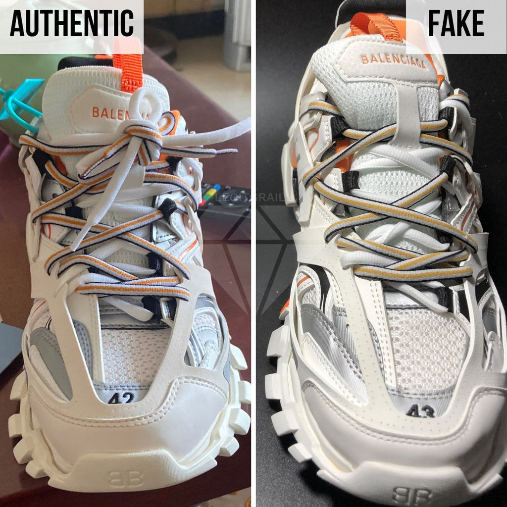 How To Spot Fake Balenciaga Track Sneakers By Looking At The Lace(s)?