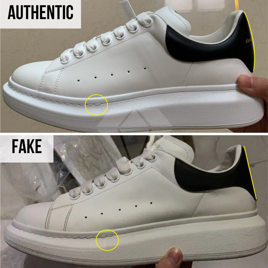 How to spot fake Alexander McQueen Oversized sneakers: The Stitching Method
