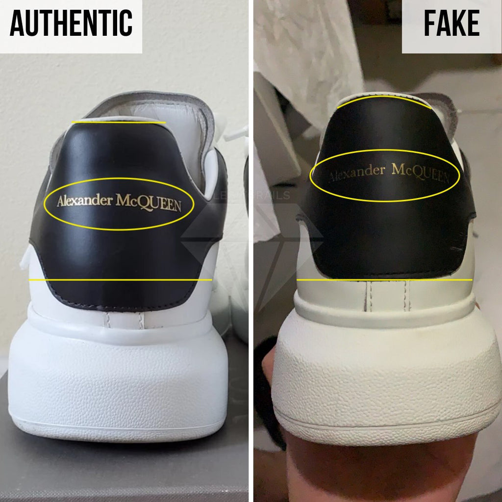 How to Spot Fake Alexander McQueen Oversized sneakers: The Heel Method