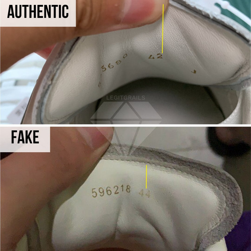 How to Spot Fake Alexander McQueen Oversized sneakers: The Inner Tongue Print Method