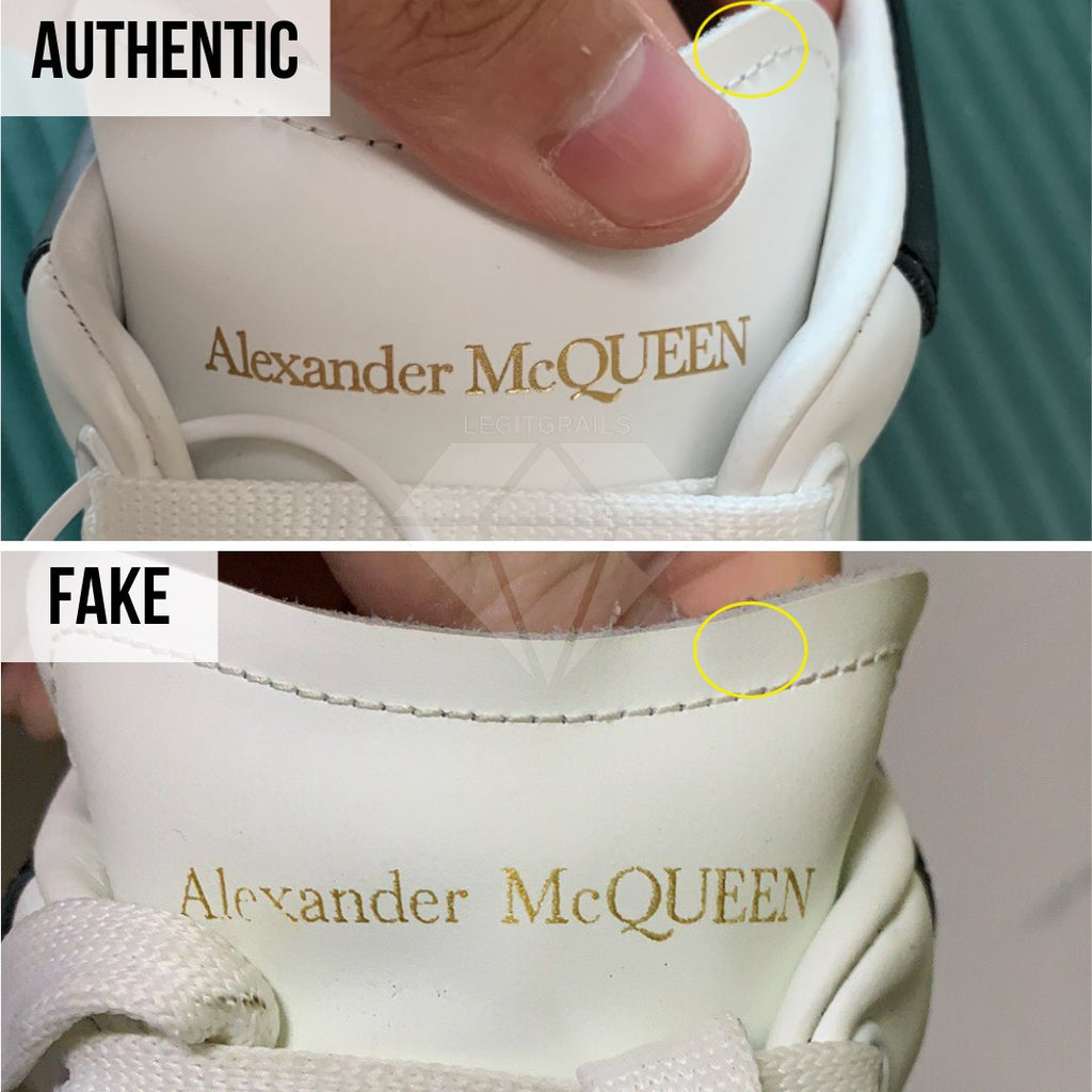 How to Spot Fake Alexander McQueen Oversized sneakers: The Outer Tongue Label Method