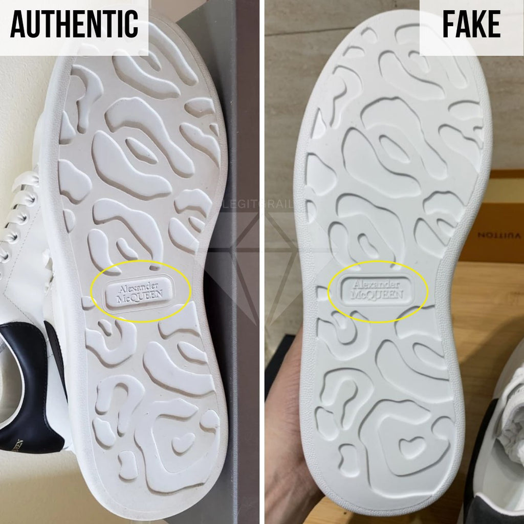 How to spot fake Alexander McQueen Oversized sneakers: The Outsole Method