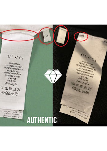 How to legit check a Gucci T-shirt | Gucci T-shirt Real vs Fake: The washing label method