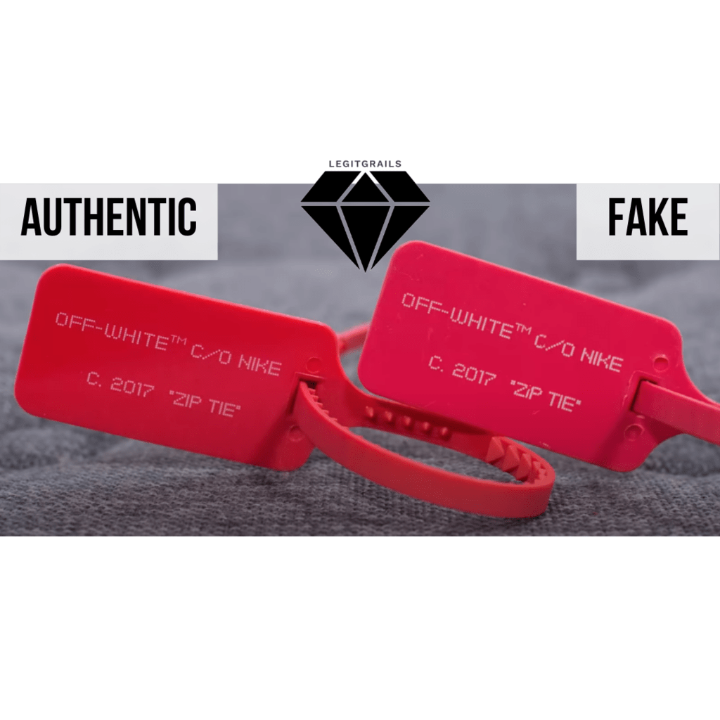 How to Spot Fake Off White Jordan 1 Chicago: The Zip Tie Method