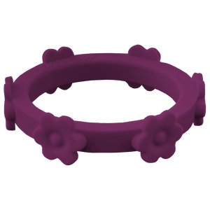 Cabernet Purple Flower Silicone Ring