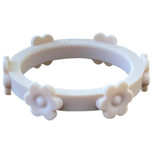 Ivory White Flower Silicone Ring