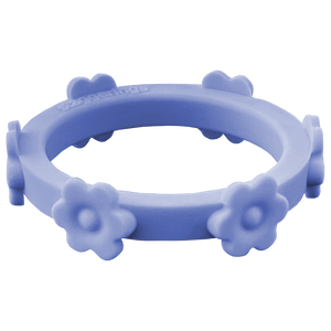 Periwinkle Blue Flower Silicone Ring