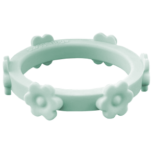 Sage Green Flower Silicone Ring