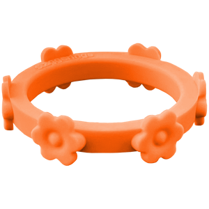 Tangerine Orange Flower Silicone Ring