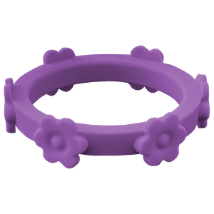 Violet Purple Flower Silicone Ring