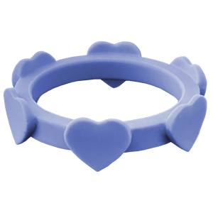 Periwinkle Blue Heart Silicone Ring