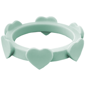 Sage Green Heart Silicone Ring