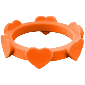 Tangerine Orange Heart Silicone Ring
