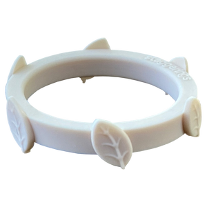 Ivory White Leaf Silicone Ring