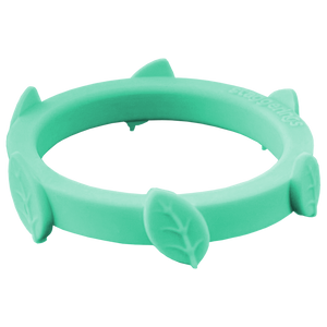 Mint Green Leaf Silicone Ring