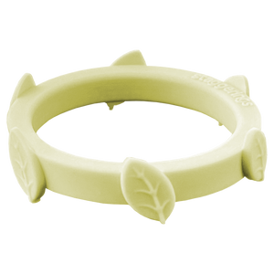 Shortbread Pale Yellow Leaf Silicone Ring