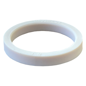 Ivory White Stripe Strype Silicone Ring
