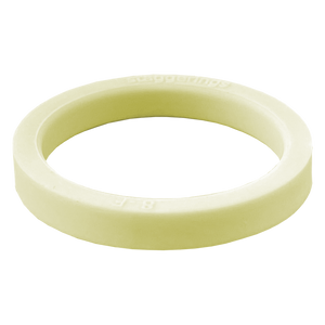 Shortbread Pale Yellow Stripe Strype Silicone Ring