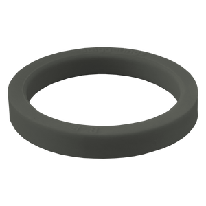 Stone Grey Stripe Strype Silicone Ring