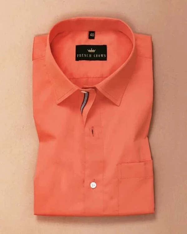 Tiger Orange Soft Satin Shirt
