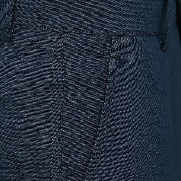 Presidential Blue Regular fit LINEN Trouser