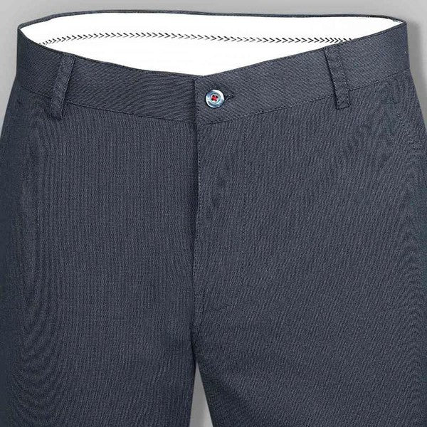 Peacock Blue Regular fit Cotton Trouser