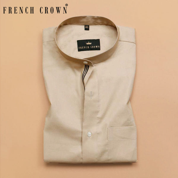 Light Brown Premium Cotton Shirt