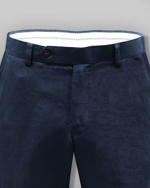 Denim Blue Formal LINEN Trouser