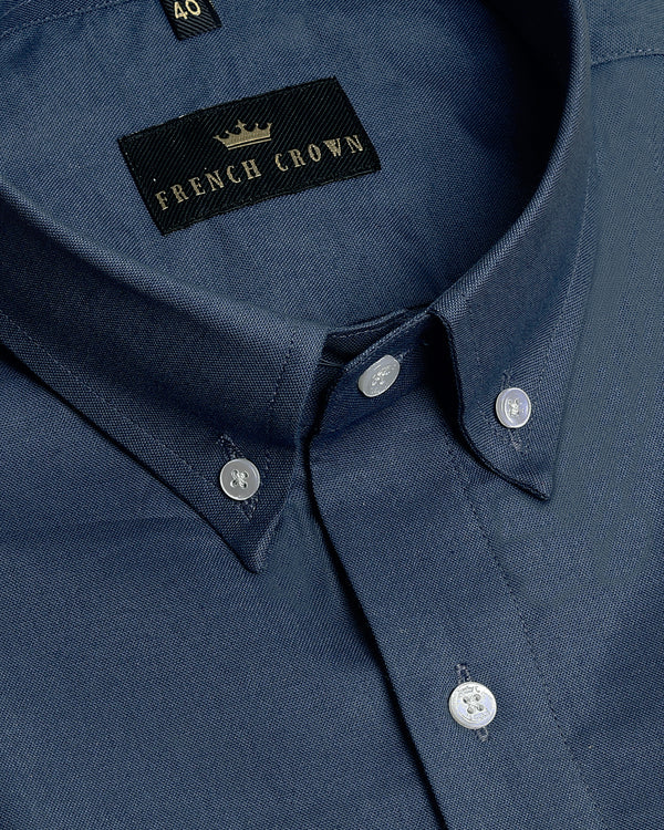Steel Blue Oxford Shirt