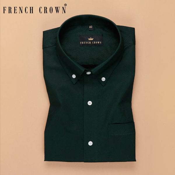 Basil Green Oxford Shirt
