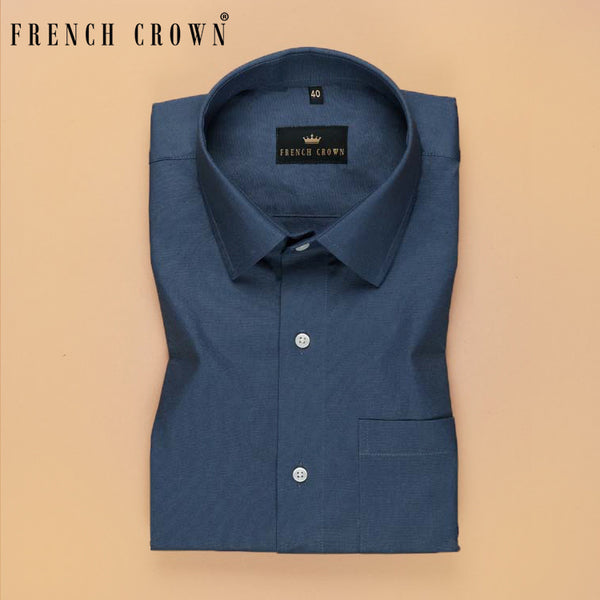 Steel Blue Royal Oxford Shirt