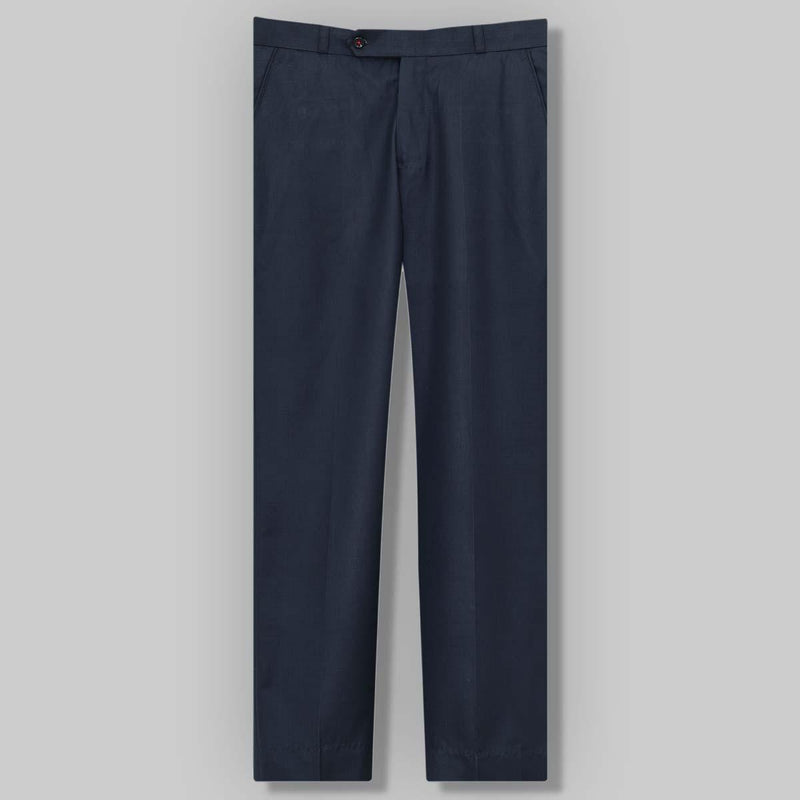 Navy Blue Flat-front Formal Pant