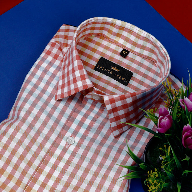 Multi-color Micro-Checked Premium Cotton Shirt