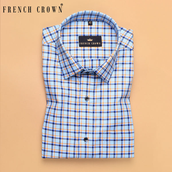 Sky Plaid Premium Cotton SHIRT