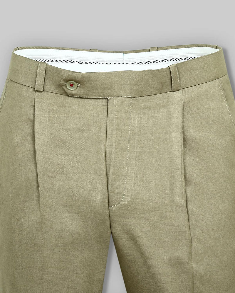 Sandcastle Cream Pleated Formal Pant