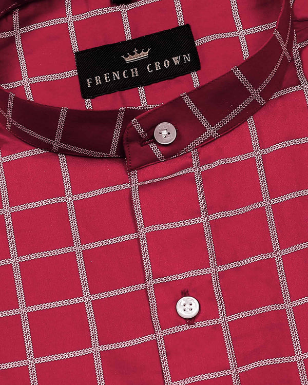 Red Checked Soft cotton shirt