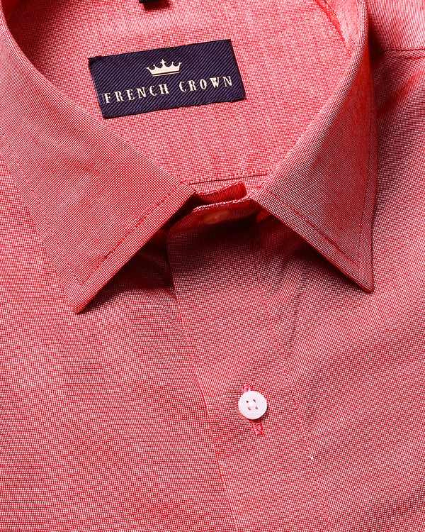 Red Premium Cotton Shirt