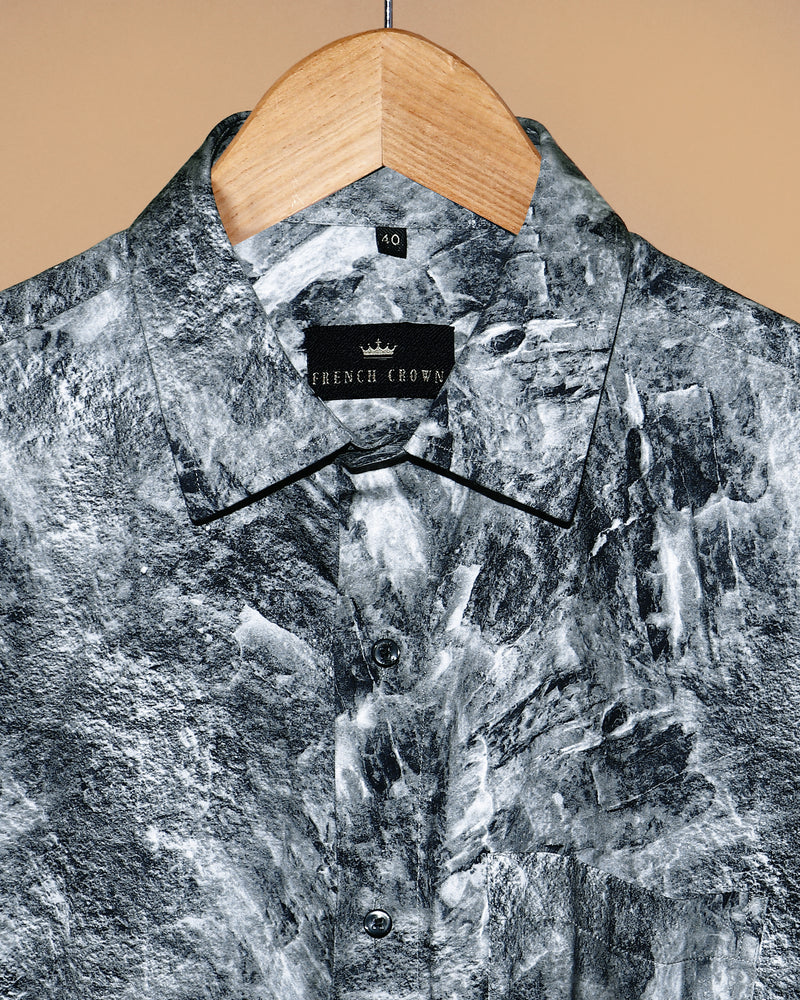 The Marble Digital Print Super Soft Giza Cotton SHIRT