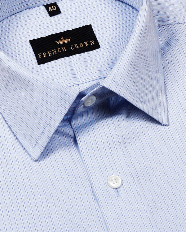 Sky Striped Premium Cotton Shirt