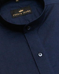 Navy Thick Oxford Shirt