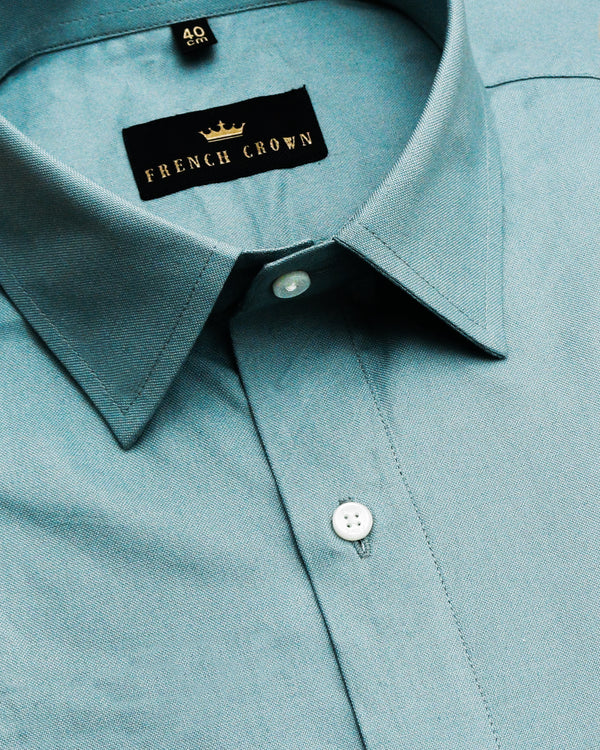 Shadow Green Thick Oxford Shirt