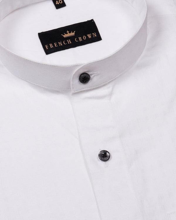 White Super Soft Jacquard Textured Giza Cotton SHIRT