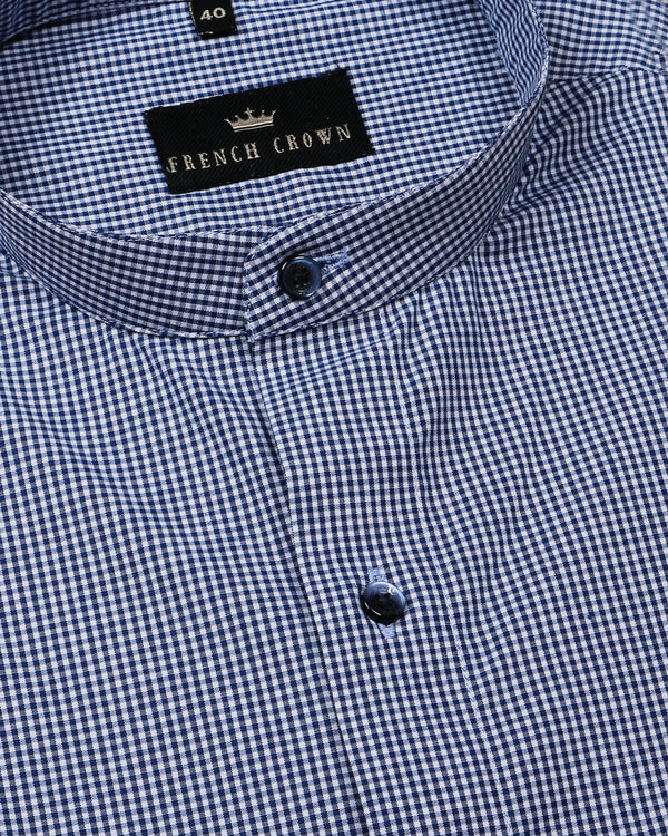 Blue Micro Checked Shirt