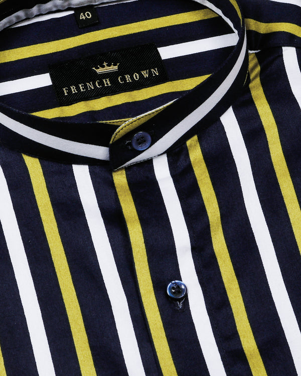 Golden Striped Premium Cotton Shirt