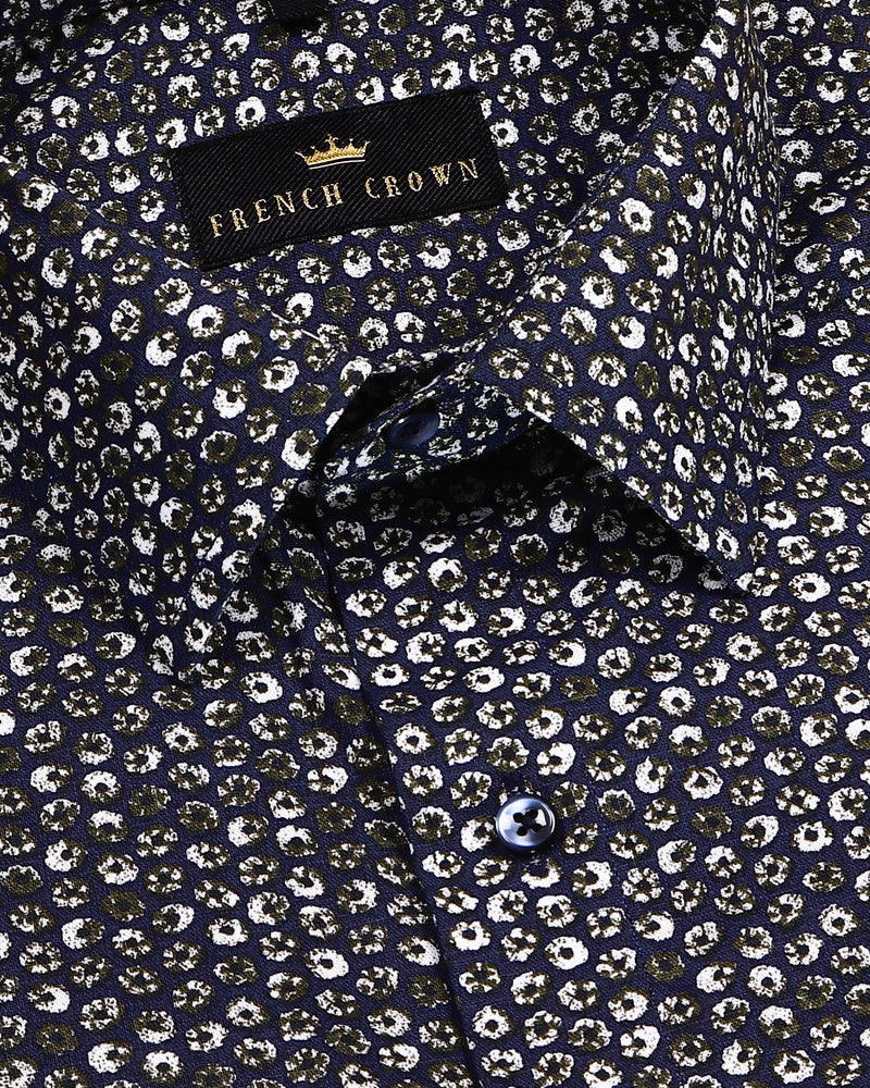 Dark Donut Print Royal Oxford Shirt