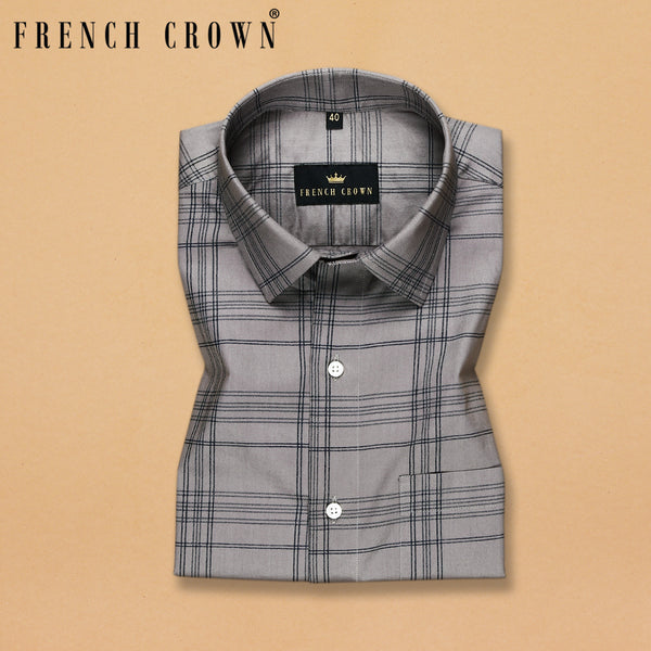 Grey Checked Ultra soft Giza Cotton SHIRT