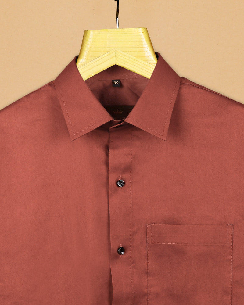 Rust Mid-weight Royal Oxford Shirt