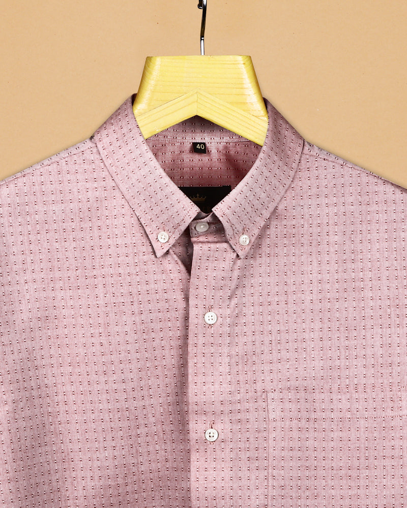 Red Textured Giza Cotton shirt