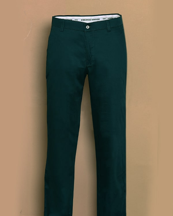 Greenish Blue Regular fit Cotton Chino