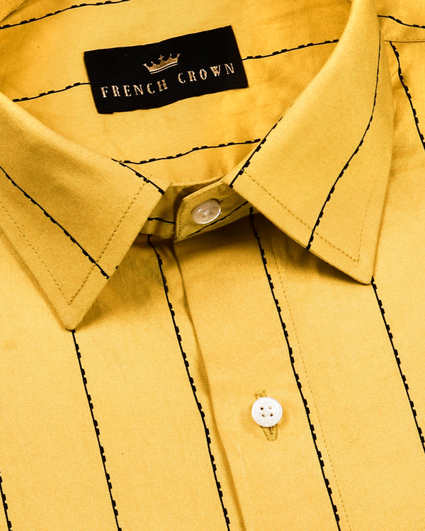 Yellow with Black Striped SHIRT